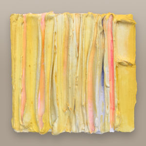 Yellow Stripes Painted Sculpture