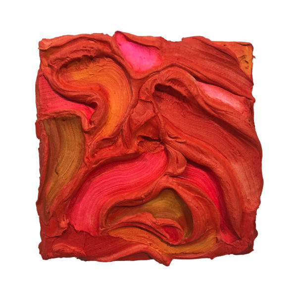 Red Painted Sculpture 01