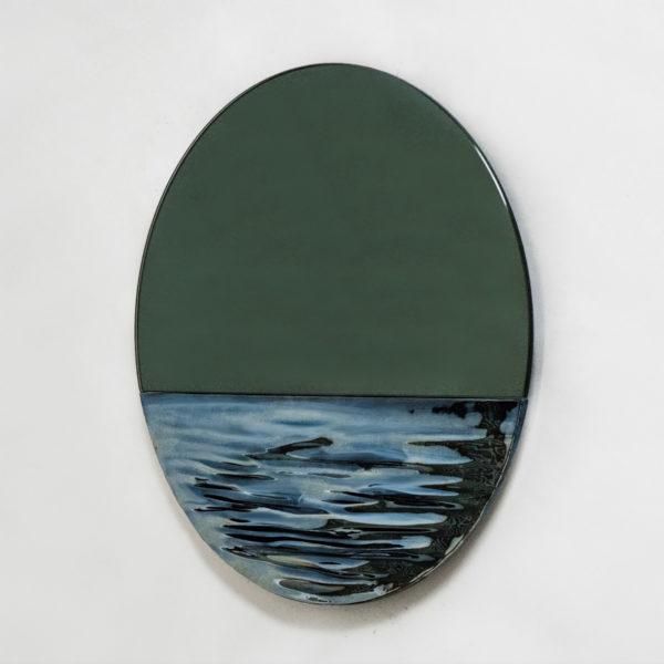 Orizon Moonlight Blue Round Mirror