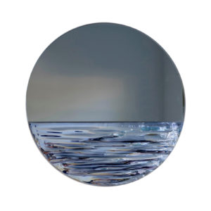 Orizon Moonlight Blue Round Mirror