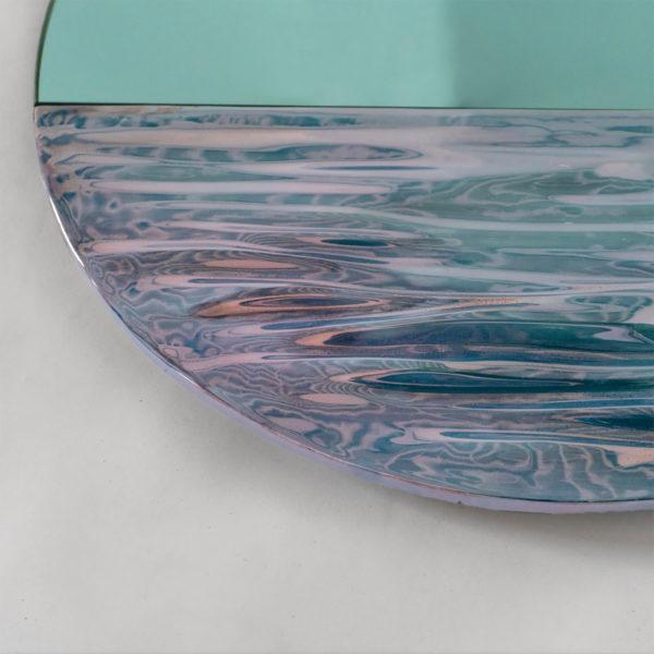 Orizon Vivid Blue Round Mirror