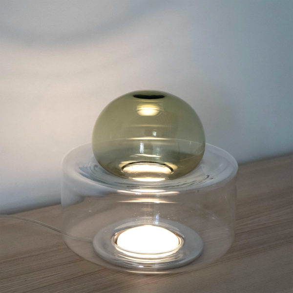 Dew + Drop Antique Yellow Table Lamp