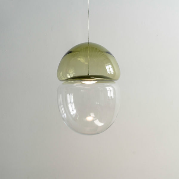 Dew + Drop Antique Yellow Small Pendant