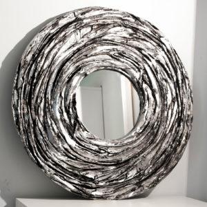 Silver Peacock Mirror