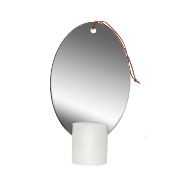Poudre Oval Table Mirror