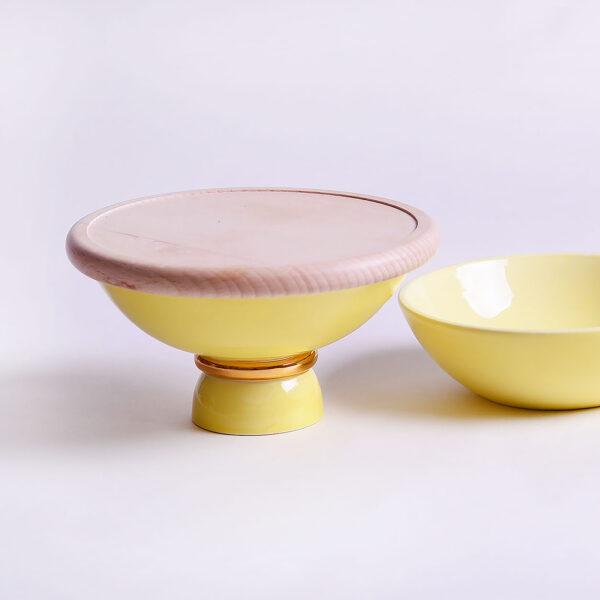 Entrée Yellow Small Table Set