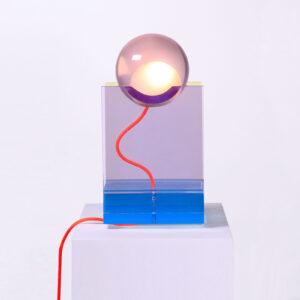 Rotonda Blue Table Lamp