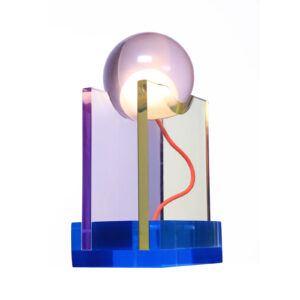 Rotonda Blue Table Lamp