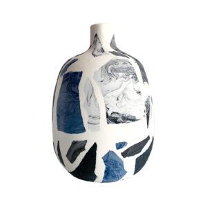 Terrazzo Vase Blue Small