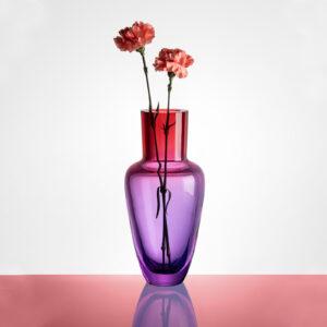 Garden Rainbow Ruby Vase