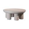 Travertine Brass Side Table