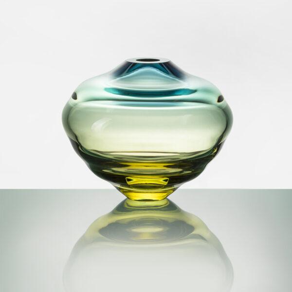 Lentil Green Yellow Vase
