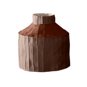 Fide Vase Multicolour Brown