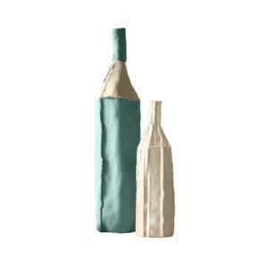 Bottles Bicolour Blue Set of 2