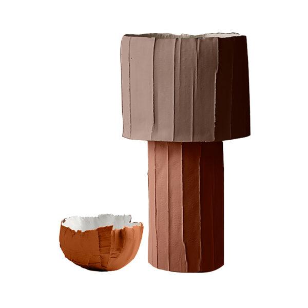 Ninfea Centerpiece Bowl Brown Set of 2