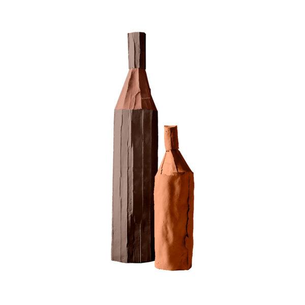 Bottles Bicolour Brown Set of 2