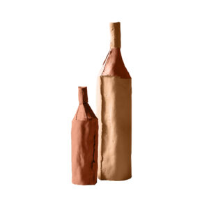 Bottles Bicolour Pink Set of 2