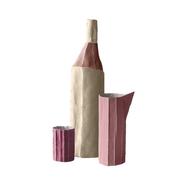 Bottle Tucano Mono Pink Set of 3