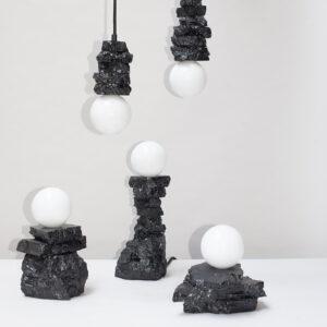 Anthracite Coal Pendant Light