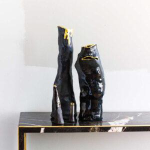 Dawn Black Vase No.1