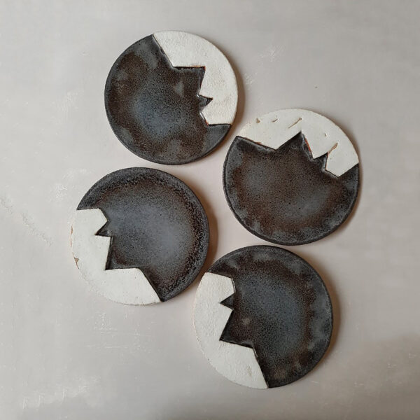 Brut b&w Platter Set of 2
