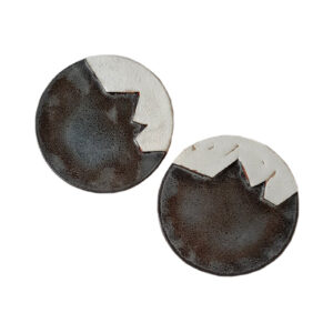 Brut b&w Platter Set of 2