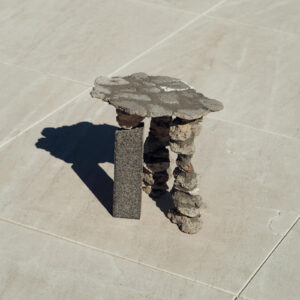 N.2 Stones & Concrete Stool