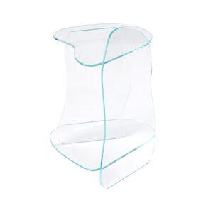Dolmen Clear Side Table