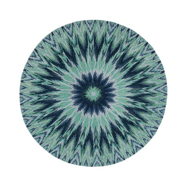 Iris Ikat Circle Blue