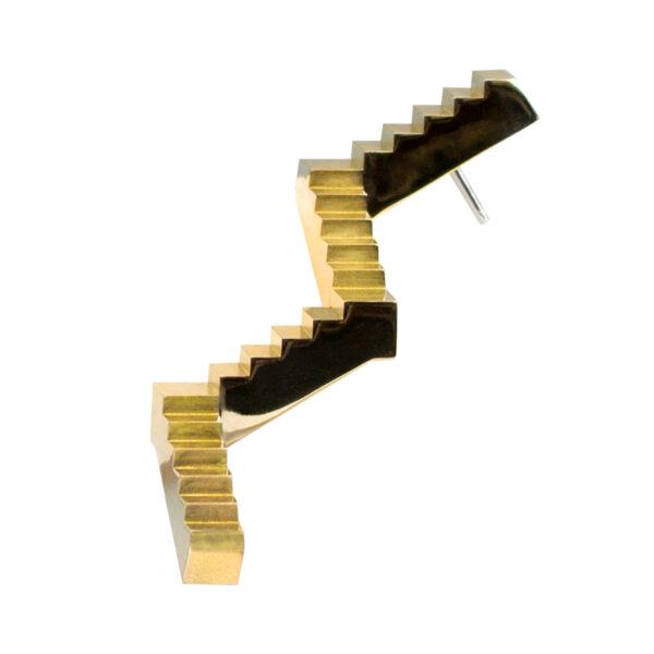 The Flâneur Brooch Brass