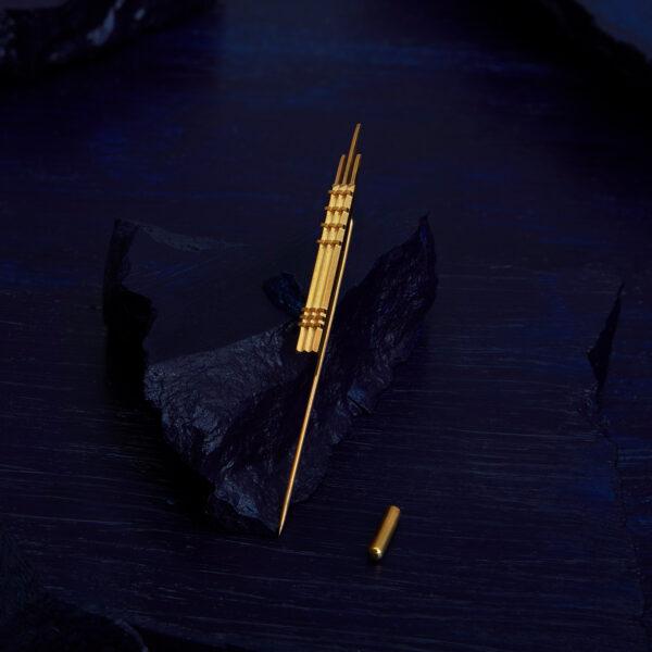 The Façade Brooch-S Gold