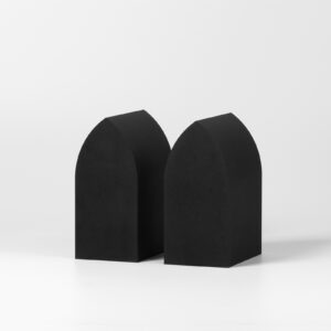 The Vault Black Bookend Set of 2